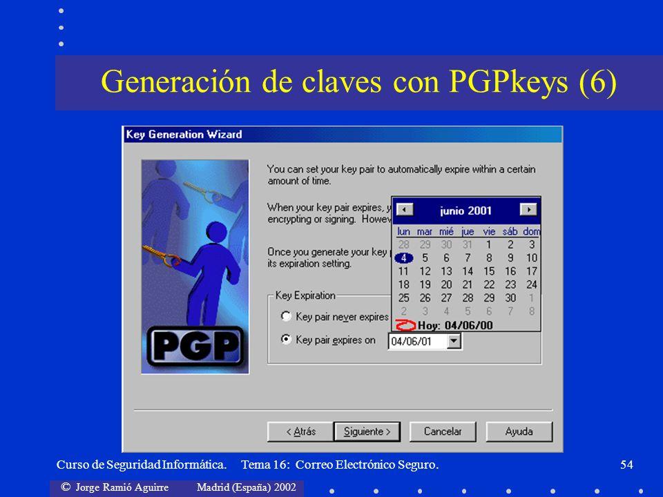 Generación de claves con PGPkeys (6)