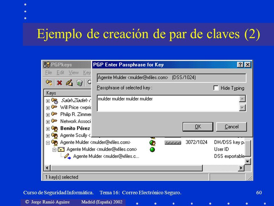 Ejemplo de creación de par de claves (2)