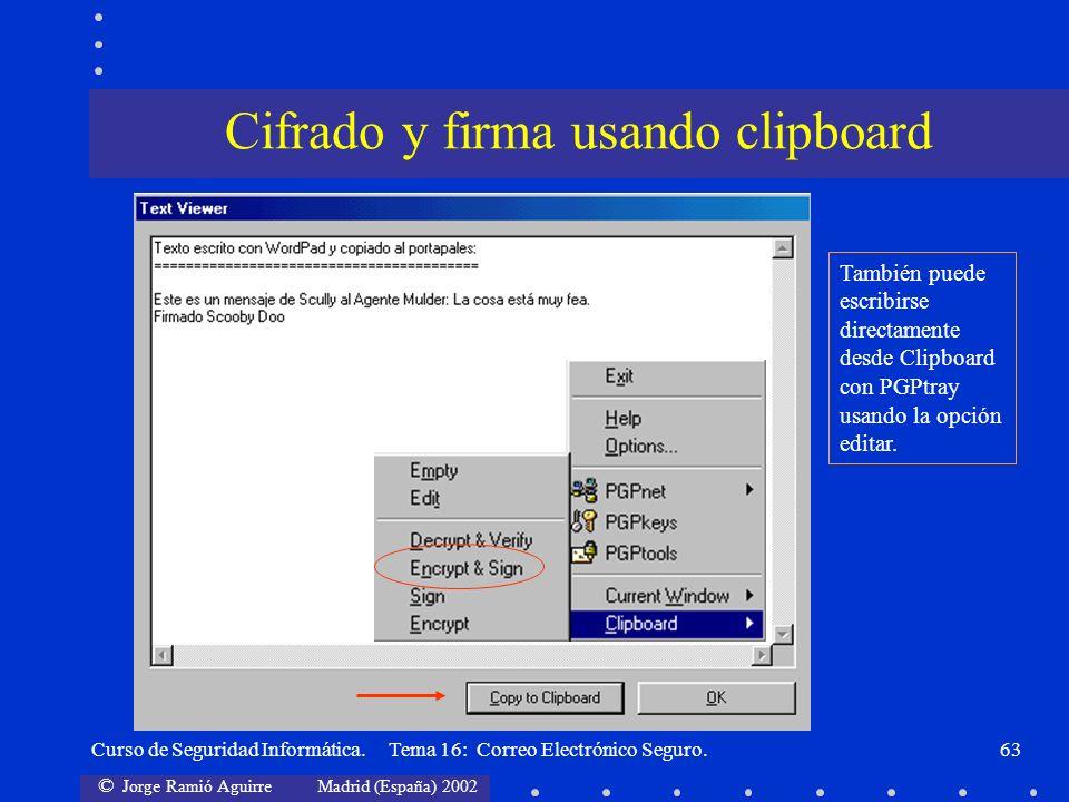 Cifrado y firma usando clipboard