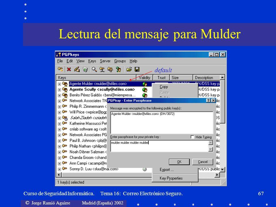 Lectura del mensaje para Mulder