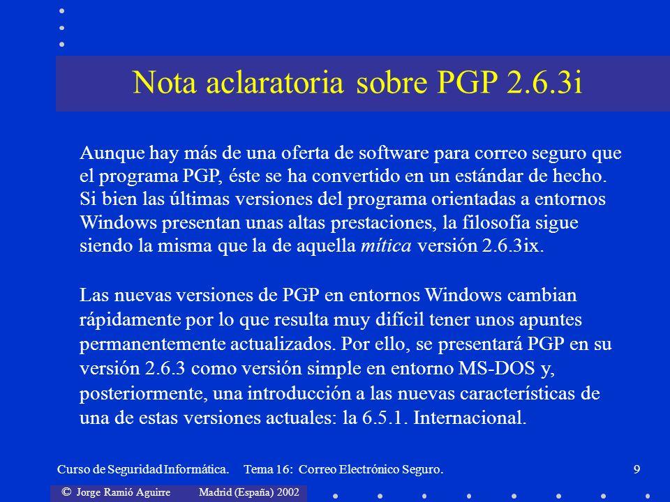 Nota aclaratoria sobre PGP 2.6.3i