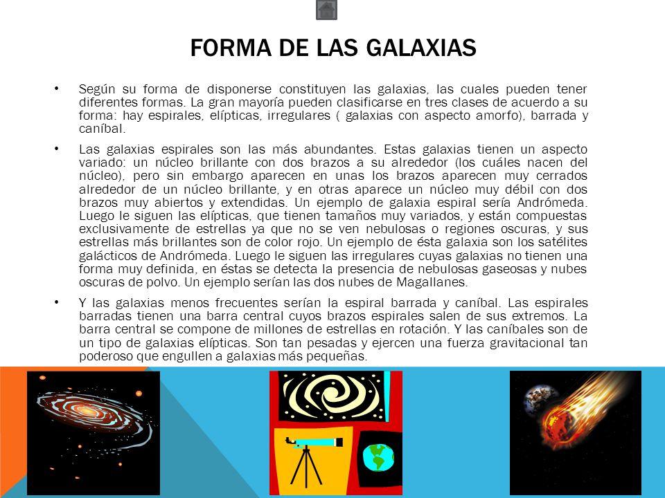 Forma de las galaxias
