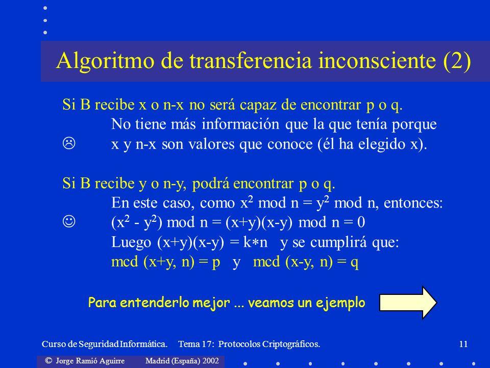 Algoritmo de transferencia inconsciente (2)