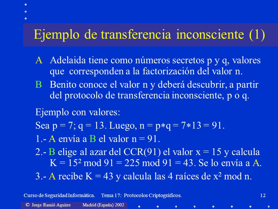 Ejemplo de transferencia inconsciente (1)