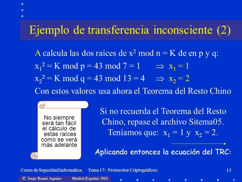 Ejemplo de transferencia inconsciente (2)