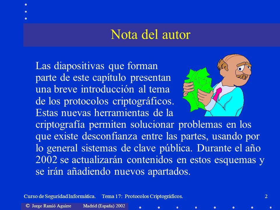 Nota del autor Las diapositivas que forman