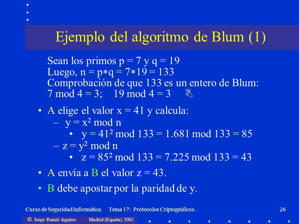Ejemplo del algoritmo de Blum (1)
