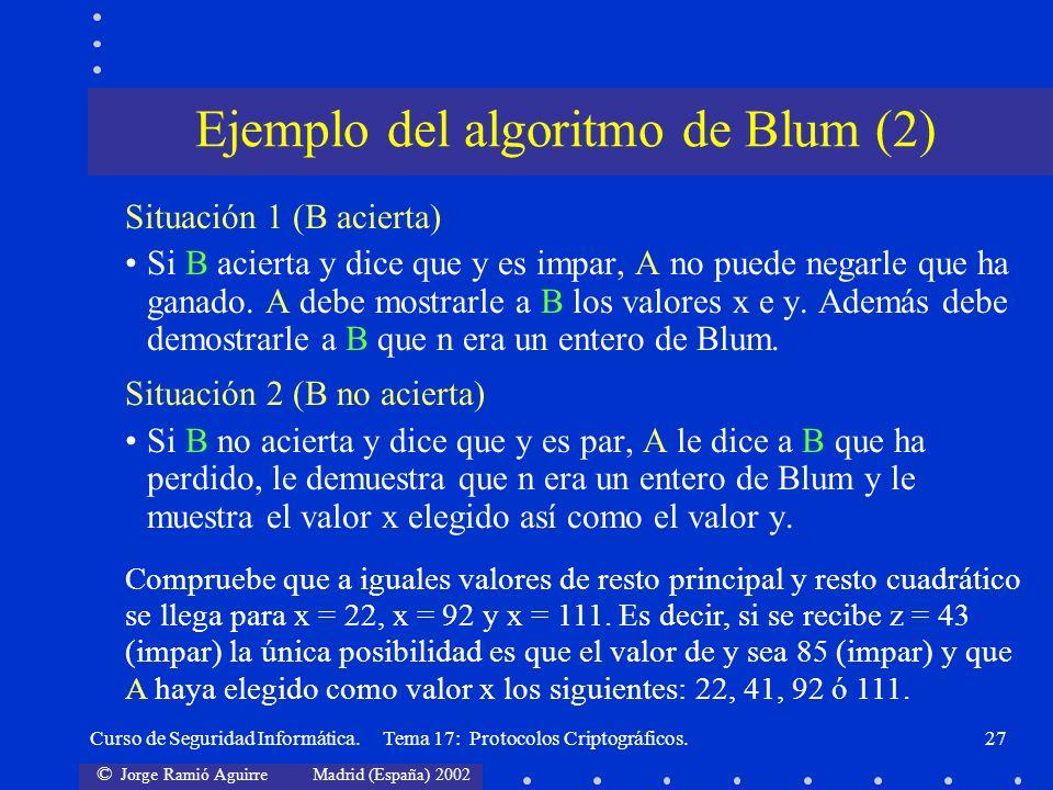 Ejemplo del algoritmo de Blum (2)