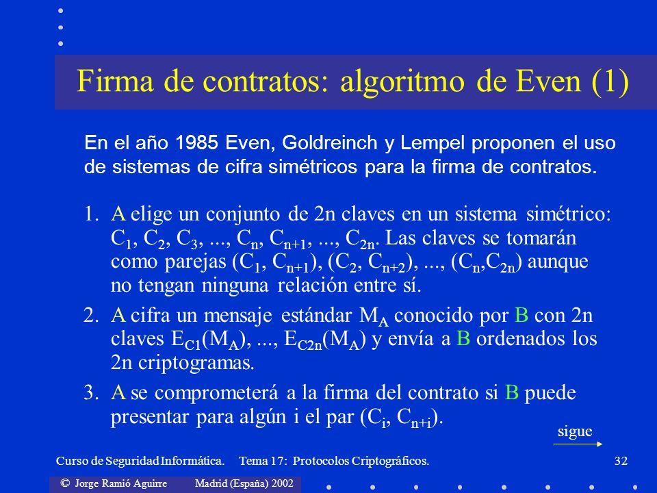 Firma de contratos: algoritmo de Even (1)