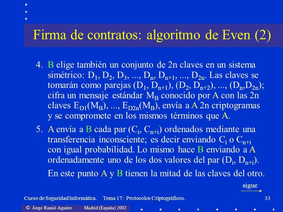 Firma de contratos: algoritmo de Even (2)