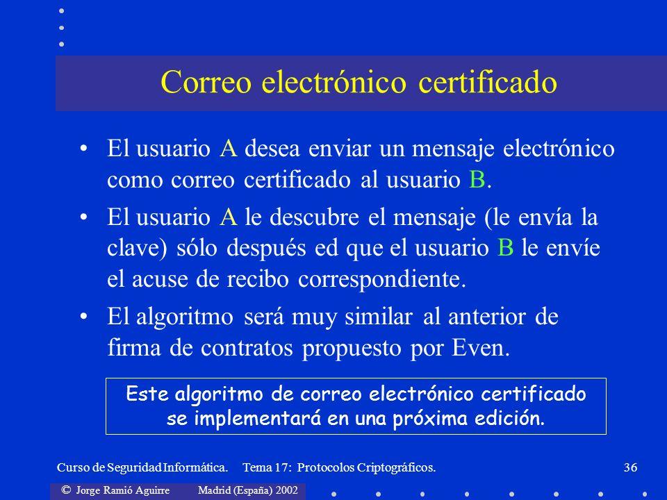 Correo electrónico certificado