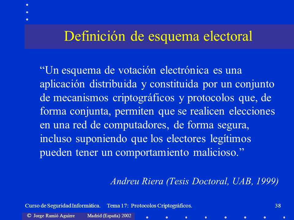 Definición de esquema electoral