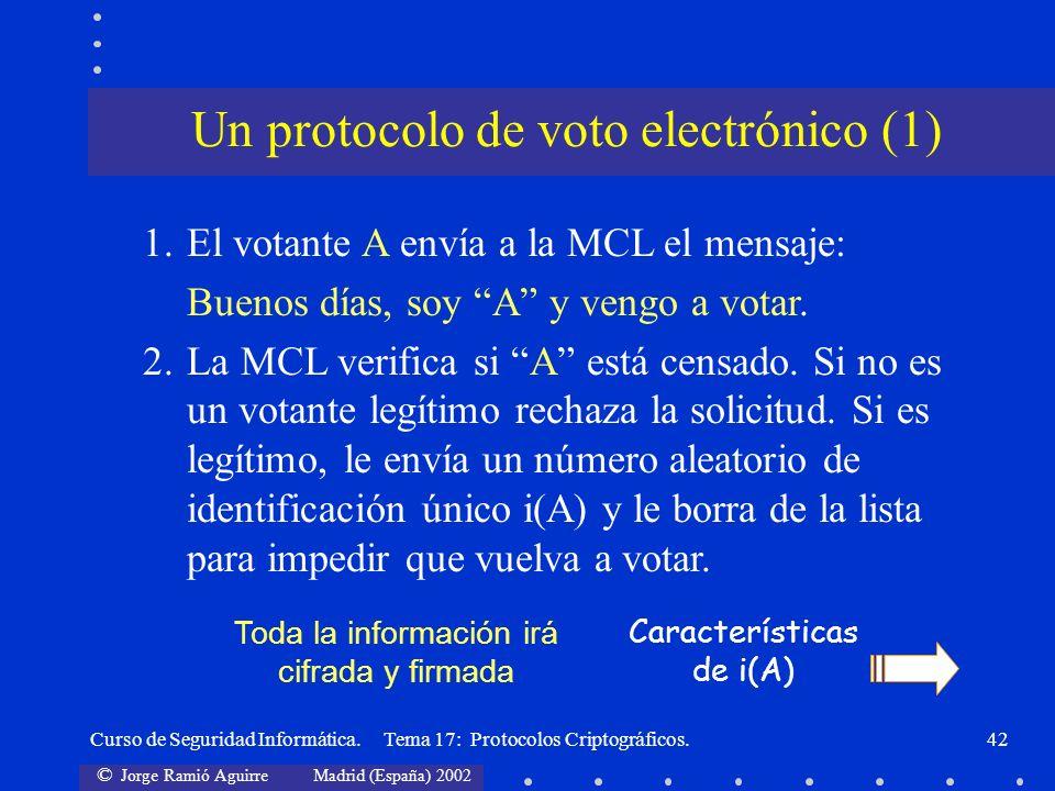 Un protocolo de voto electrónico (1)