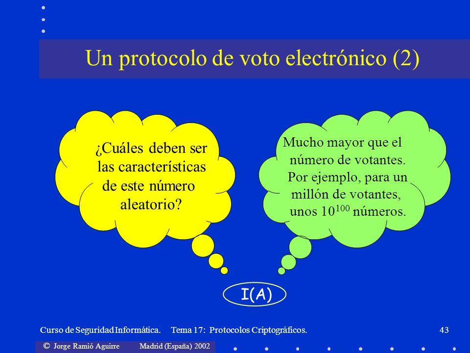 Un protocolo de voto electrónico (2)