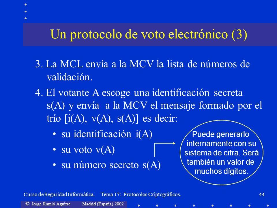 Un protocolo de voto electrónico (3)