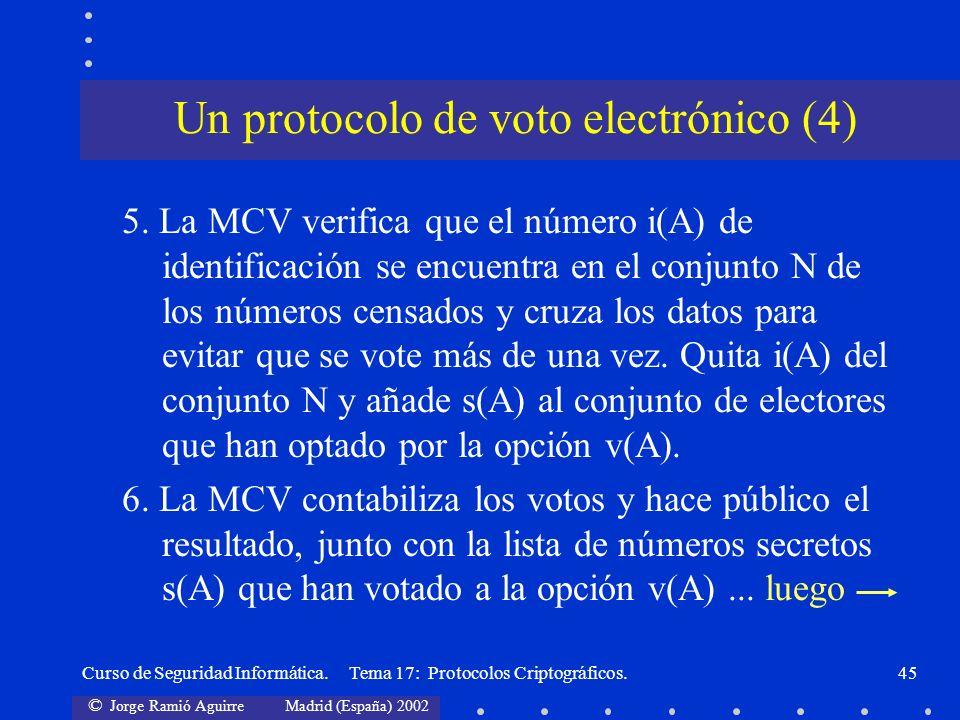 Un protocolo de voto electrónico (4)
