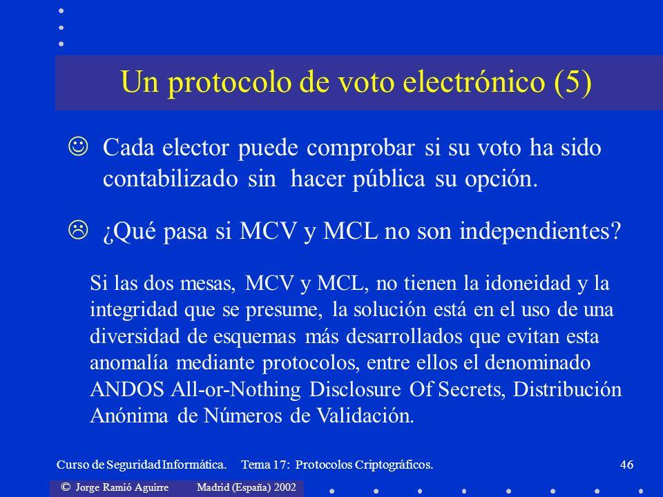 Un protocolo de voto electrónico (5)