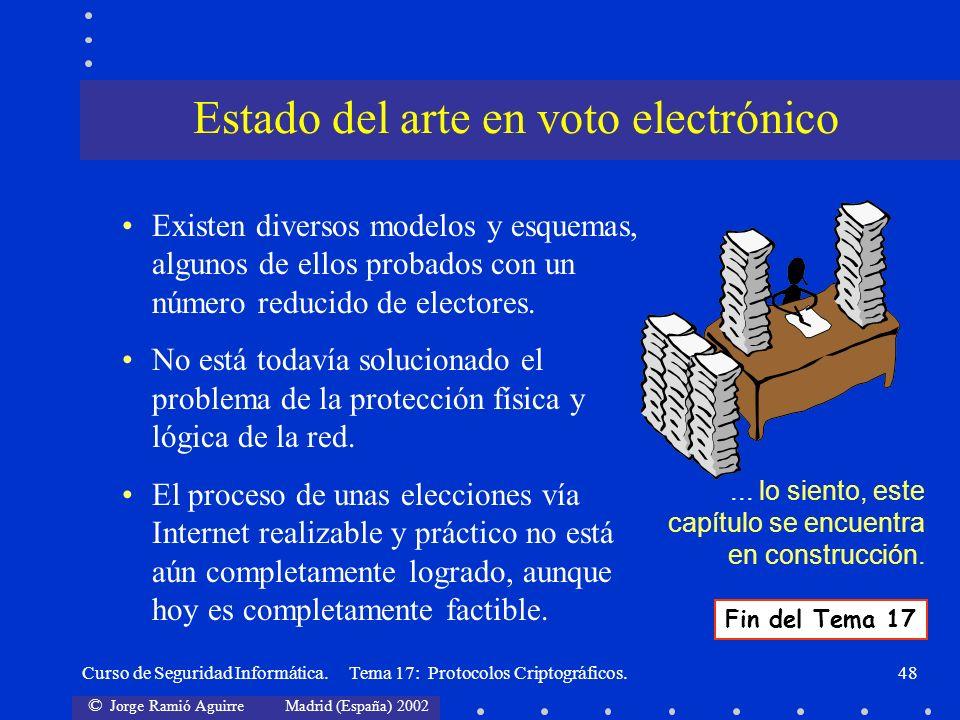 Estado del arte en voto electrónico