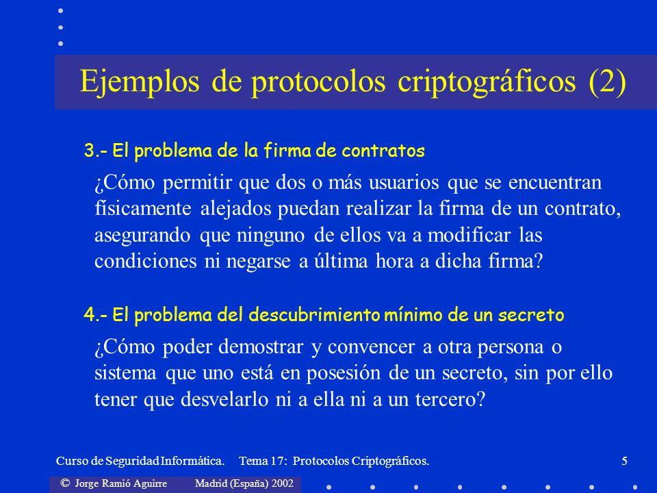 Ejemplos de protocolos criptográficos (2)