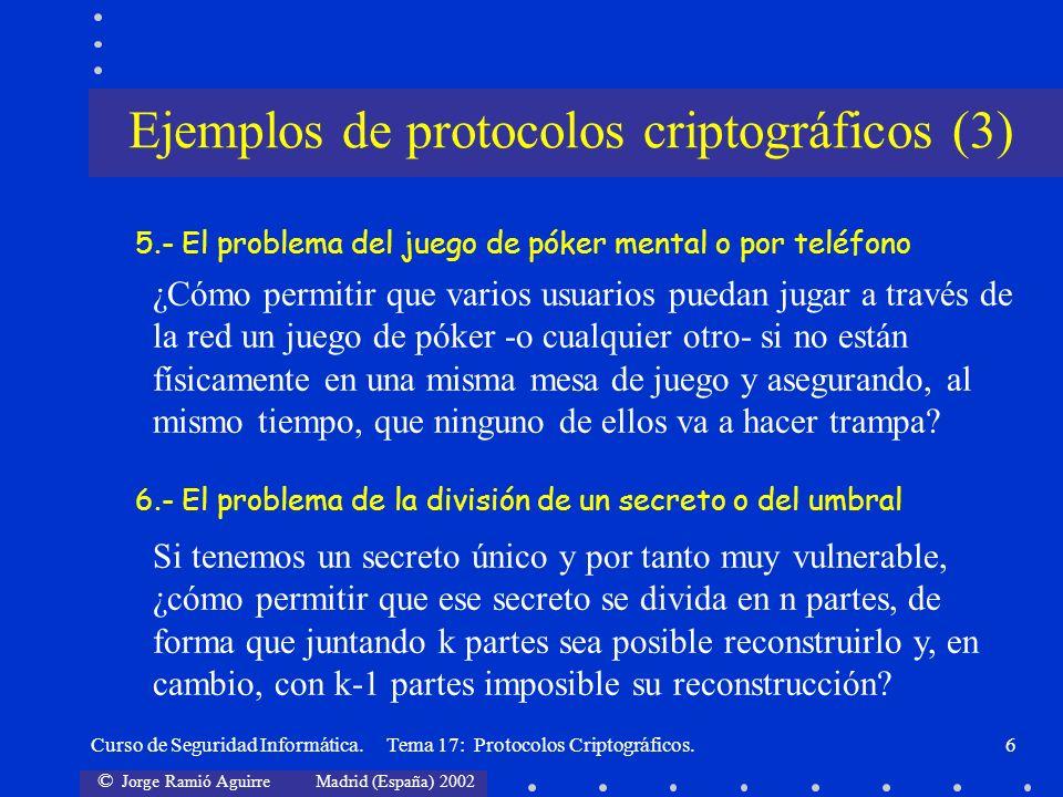 Ejemplos de protocolos criptográficos (3)