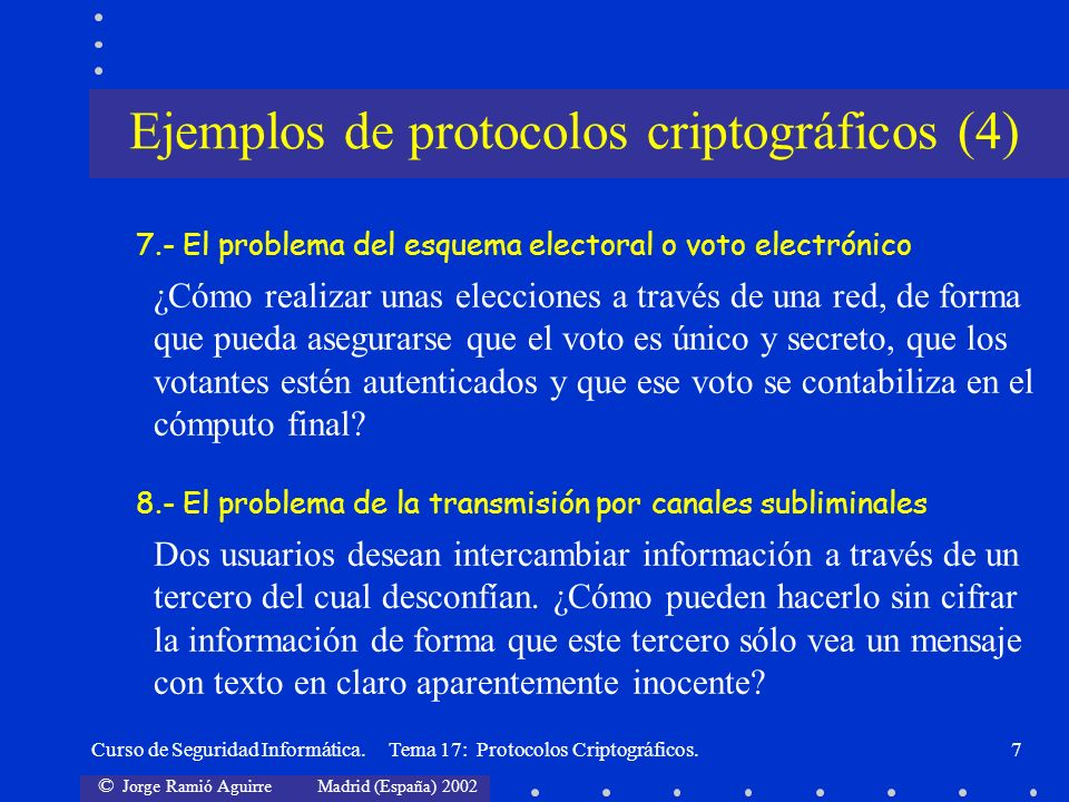 Ejemplos de protocolos criptográficos (4)
