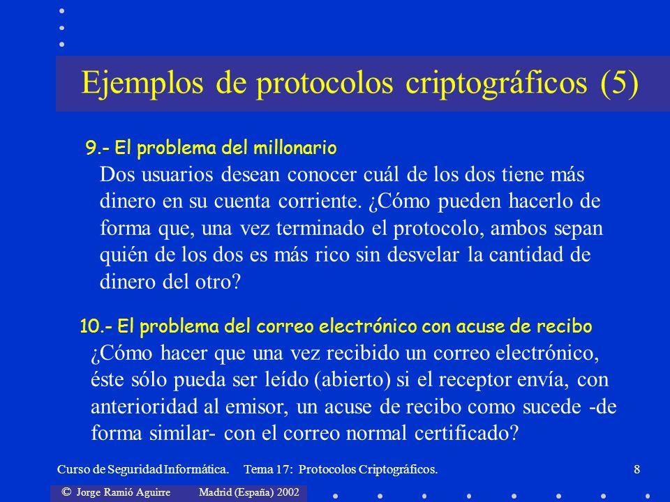 Ejemplos de protocolos criptográficos (5)