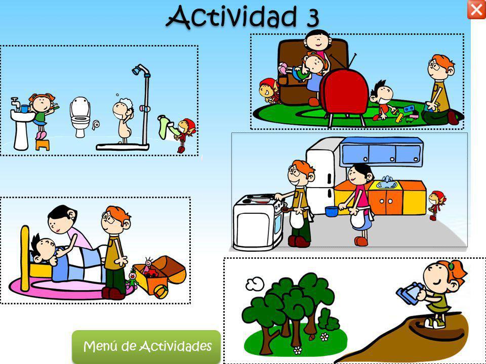 Actividad 3 Menú de Actividades