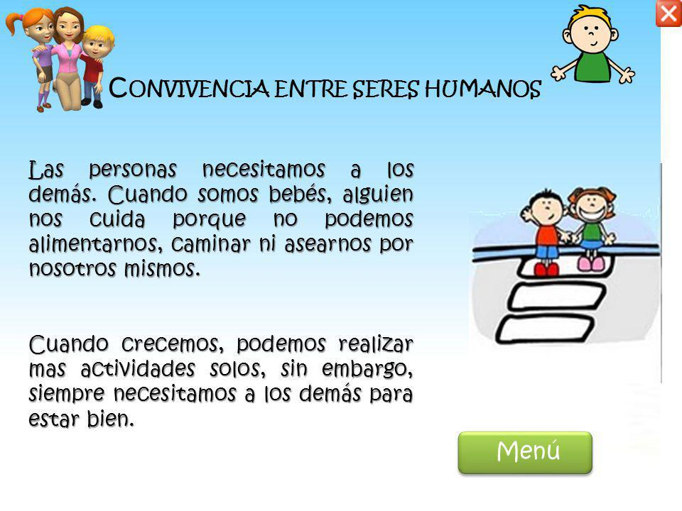 Convivencia entre seres humanos