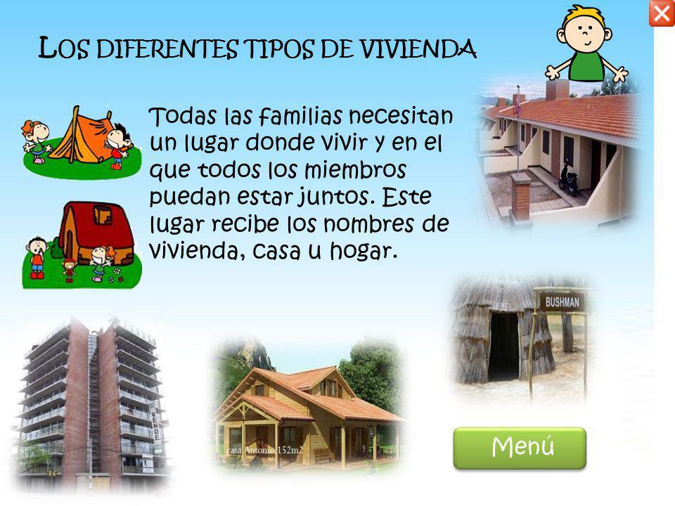 Los diferentes tipos de vivienda