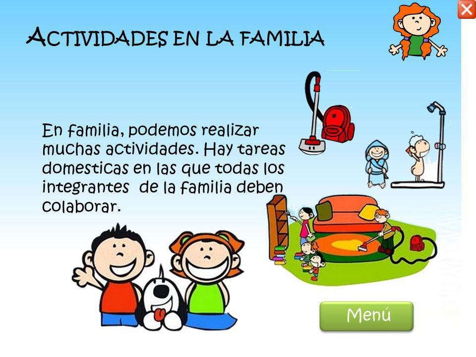 Actividades en la familia
