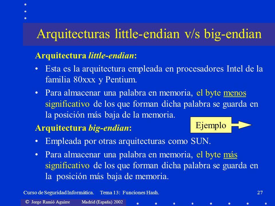 Arquitecturas little-endian v/s big-endian
