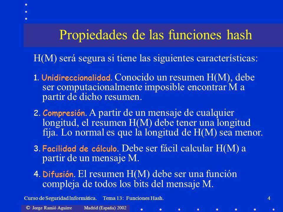 Propiedades de las funciones hash