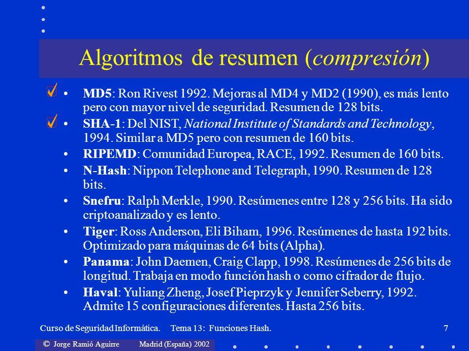 Algoritmos de resumen (compresión)
