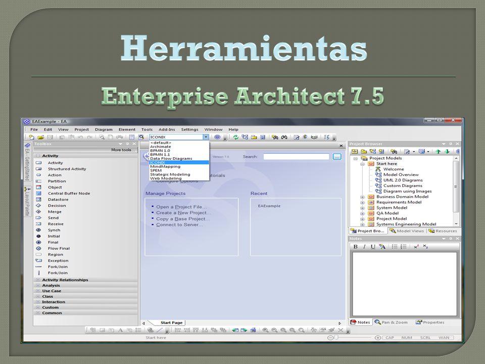 Herramientas Enterprise Architect 7.5