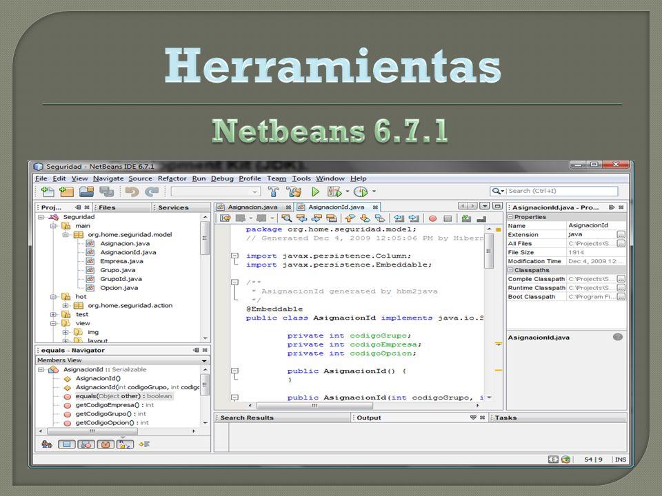 Herramientas Netbeans 6.7.1