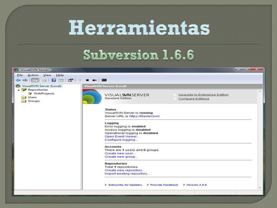 Herramientas Subversion 1.6.6