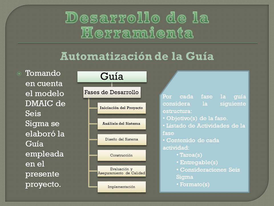 Desarrollo de la Herramienta Automatización de la Guía