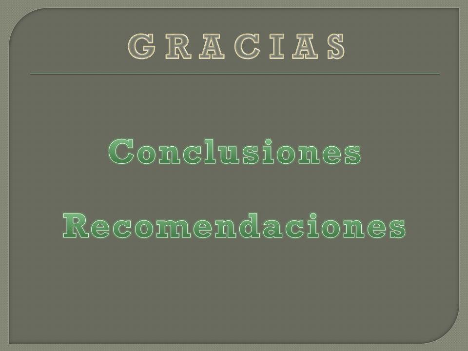 G R A C I A S Conclusiones Recomendaciones