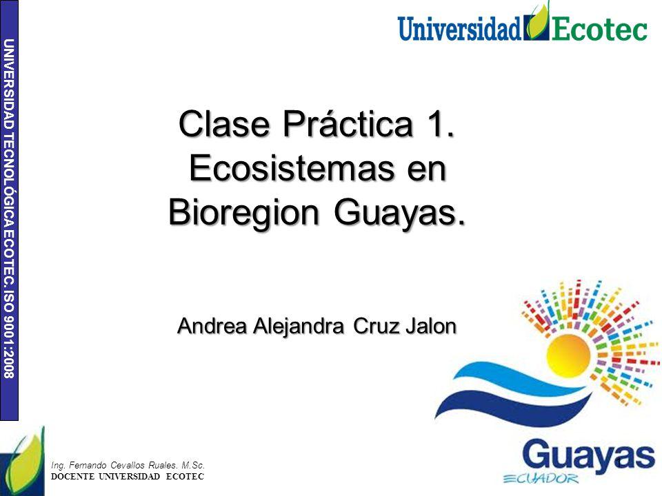 Ecosistemas en Bioregion Guayas.