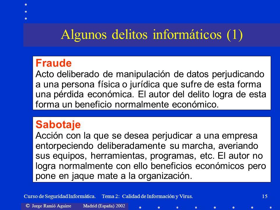 Algunos delitos informáticos (1)