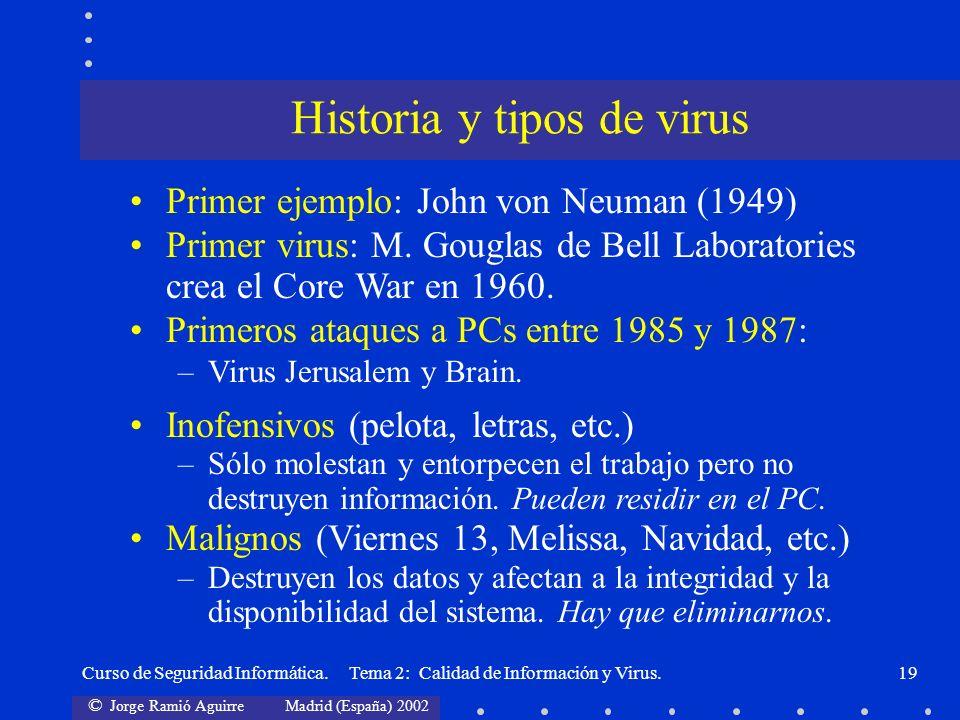 Historia y tipos de virus