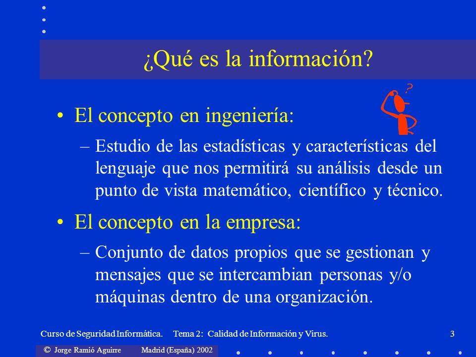 ¿Qué es la información El concepto en ingeniería: