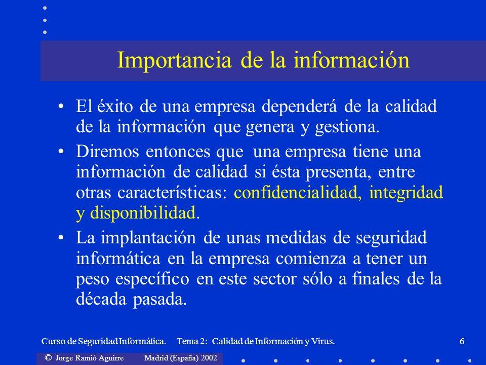 Importancia de la información