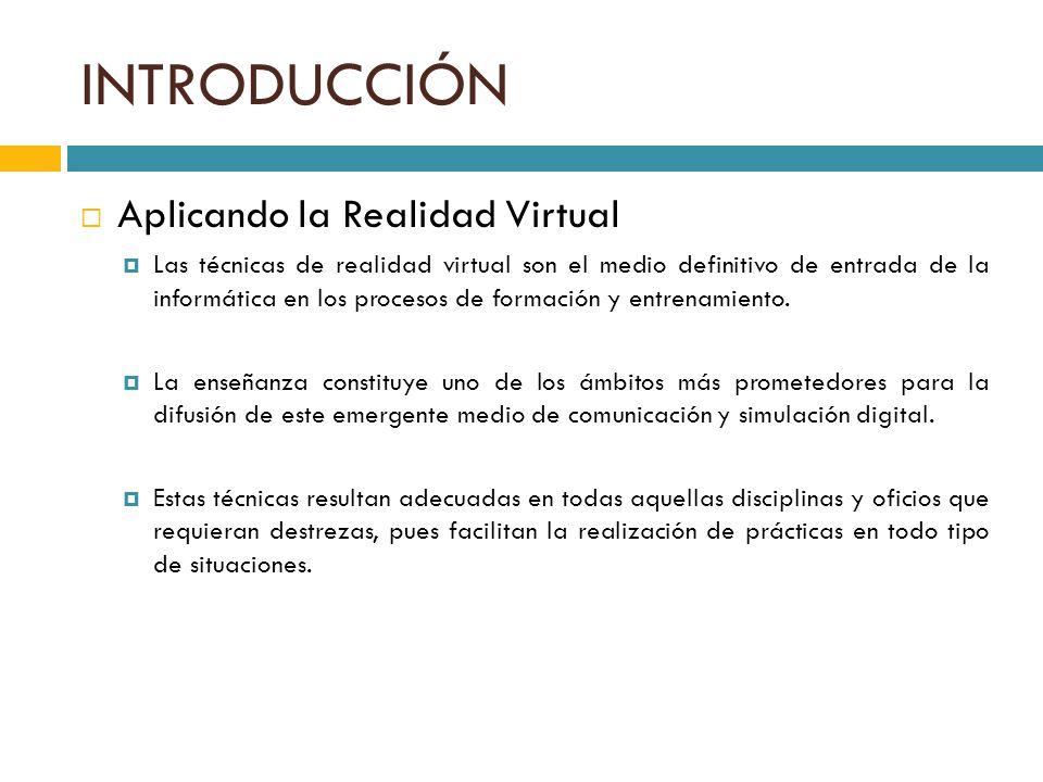 INTRODUCCIÓN Aplicando la Realidad Virtual