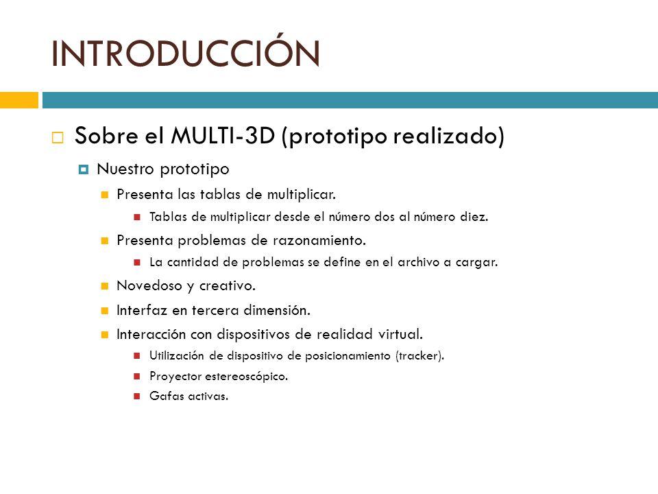 INTRODUCCIÓN Sobre el MULTI-3D (prototipo realizado) Nuestro prototipo