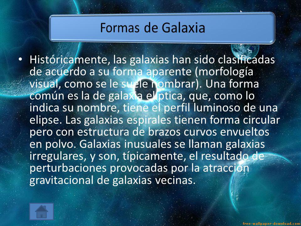 Formas de Galaxia
