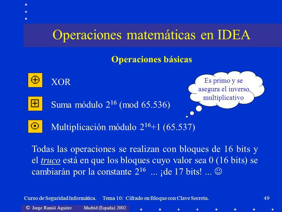 Operaciones matemáticas en IDEA