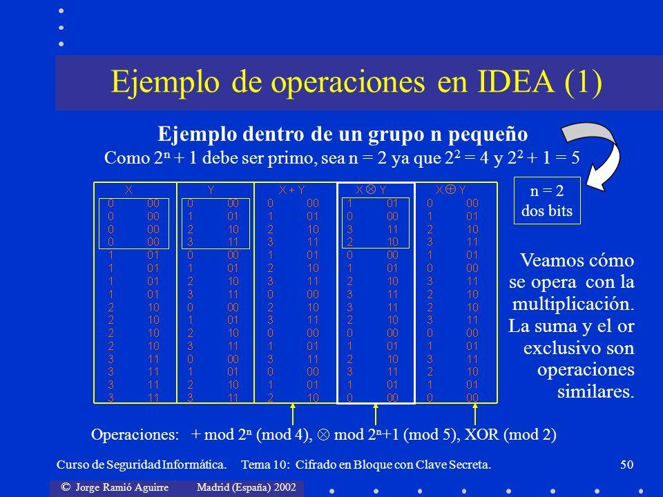 Ejemplo de operaciones en IDEA (1)