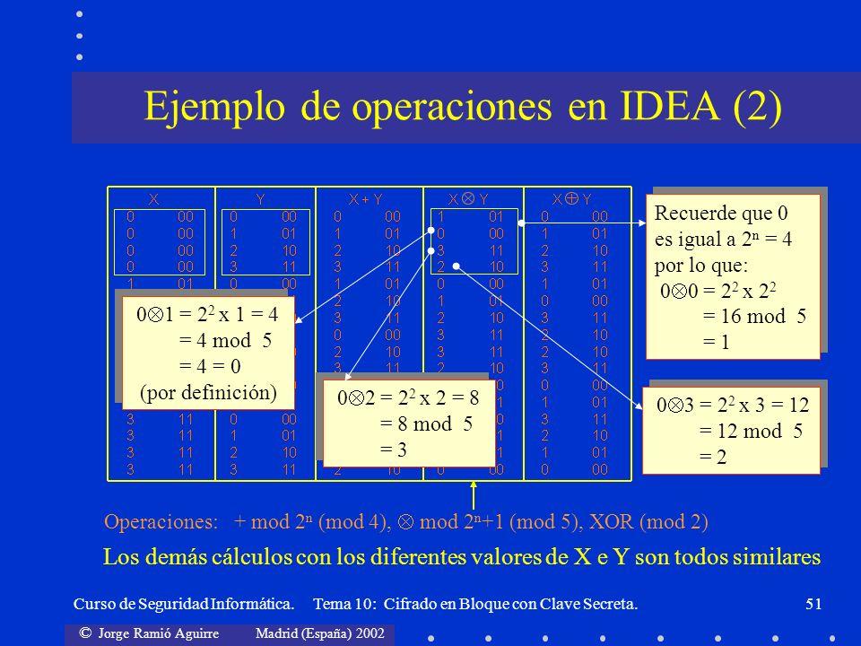 Ejemplo de operaciones en IDEA (2)