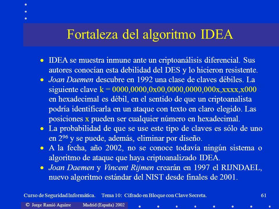 Fortaleza del algoritmo IDEA